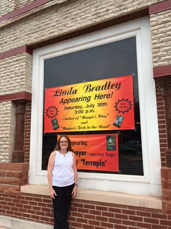 linda bradley at burr oak signing